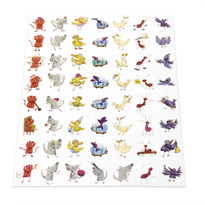 Sheet of Animal Stickers (DB-008)