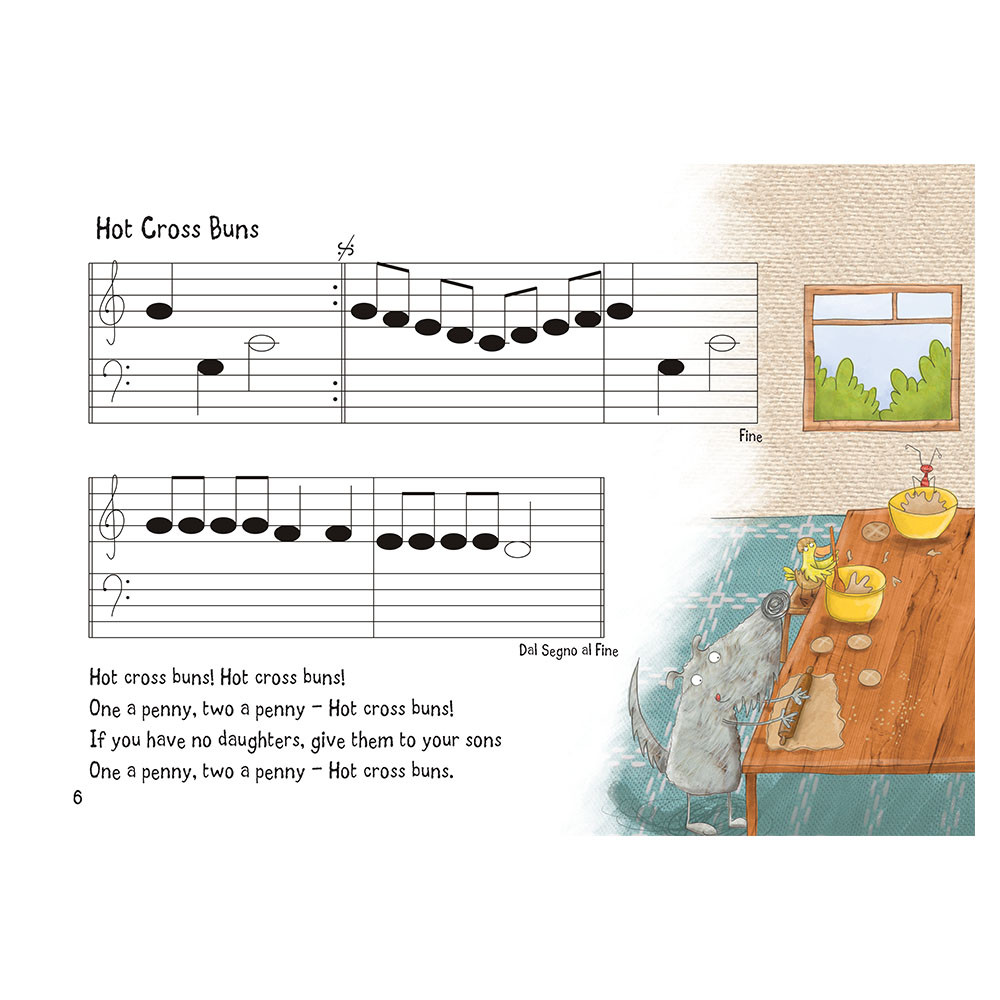 Nursery Rhyme/Famous Melodies (Blank Notes Edition) Page 6