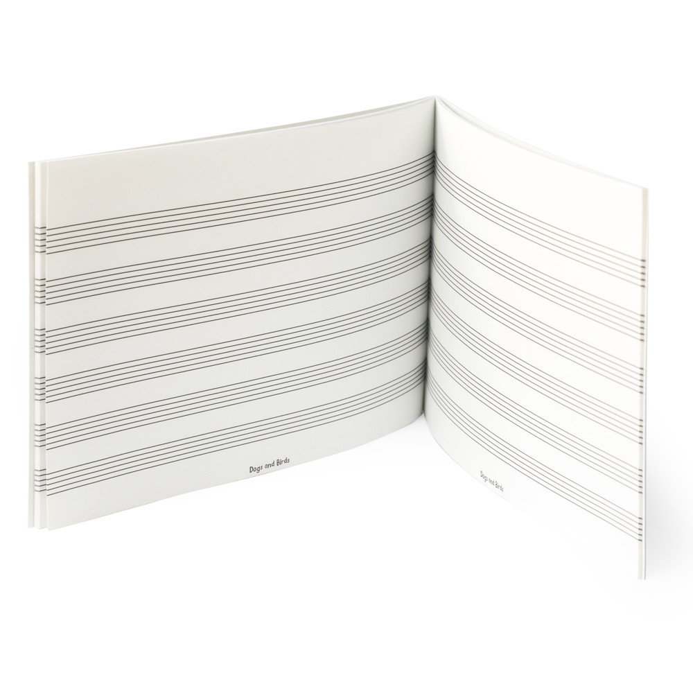 Music Manuscript Book (6 Staves) (DB-006-6) 3