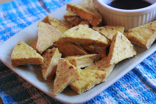 how to make crispy curry tofu