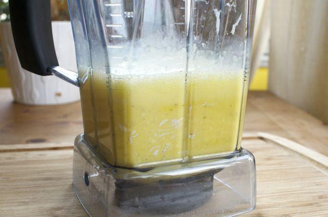 eggs in a blender