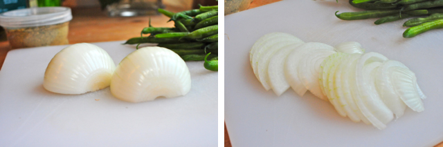 how to slice a white onion