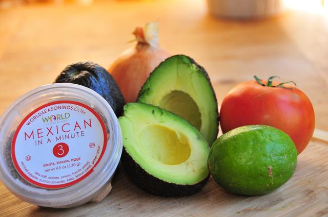 ingredients for game day guacamole