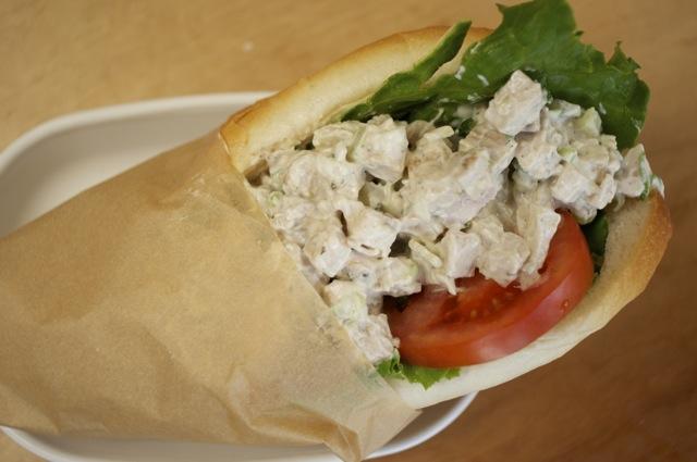 everyday chicken salad in a sandwich