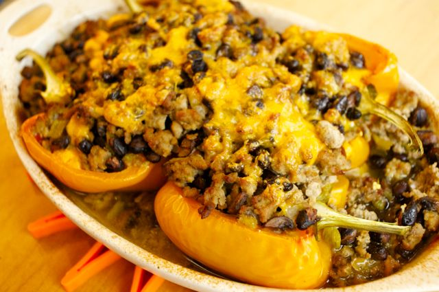 how to make turkey stuffed peppers with all natural mexican seasonings