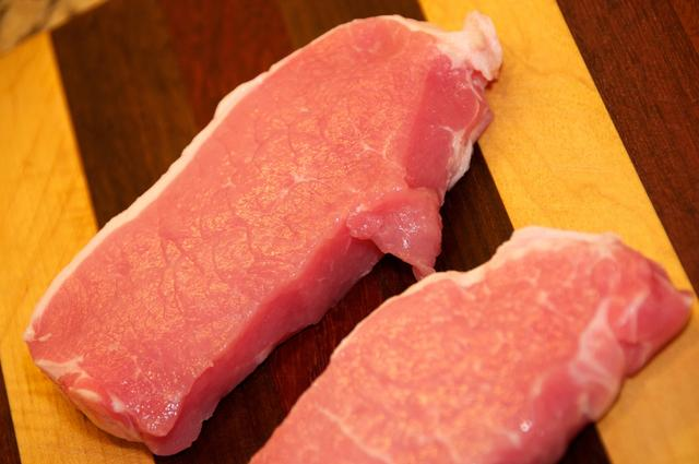 pork loins with fat trimmed off