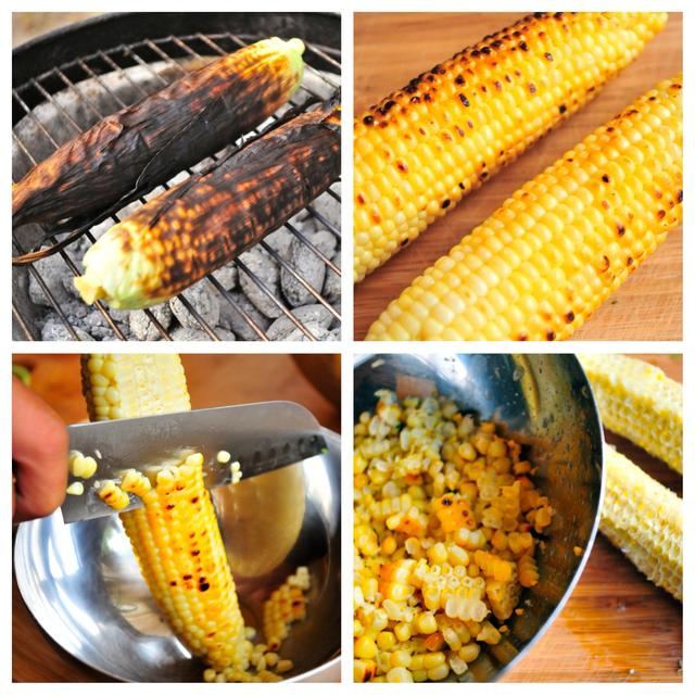 cut grilled corn