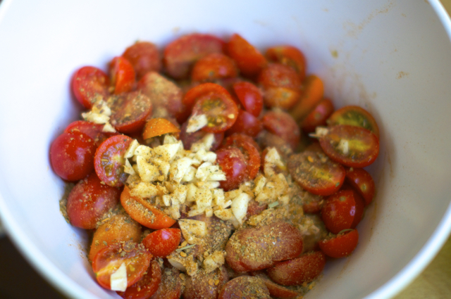 cherry tomatoes with italian seasonings and garlic