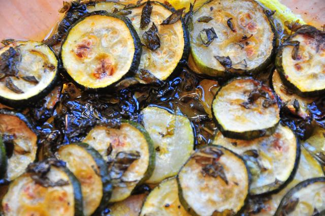 roasted zucchini with crispy edges