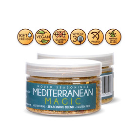 Mediterranean Diet - Greek Seasoning - Italian Seasoning - Mediterranean Seasoning - Mediterranean Spice Blend - Turkish Spices - Gluten Free Seasoning - World Seasonings - MEDITERRANEAN MAGIC