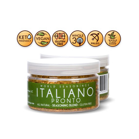 Italian Seasoning - Mediterranean Seasoning - Mediterranean Spice Blend - Italian Herb Blend - Italian Spices - Dried Italian Seasoning - Garlic Parsley Seasoning - World Seasonings - ITALIANO PRONTO