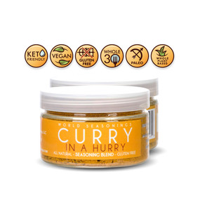 Indian Spices And Seasonings Set - Thai Curry Sauce - Curry Spice - Indi Curry Powder - Vegan Curry - Yellow Curry Powder - Gluten Free Spices And Seasonings - World Seasonings - CURRY IN A HURRY