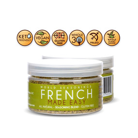 Steak Rub - Herb Mix - Herb Blend - Vegan Seasoning - Gluten Free Spices And Seasonings - Vegan Seasoning Mix - French Cuisine - French Food - World Seasonings - French Food - FRENCH MADE EASY
