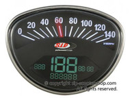 Vespa SIP Rev Counter/Speedometer - Rally/Super Black