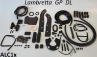Lambretta Body Rubber Kit Casa - Black S3 GP (66-ALC1x/86048810)
