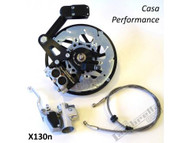 Lambretta Casa Pro Disc Brake Kit Black - SX/TV/LIS (DW-CPX130NSX)