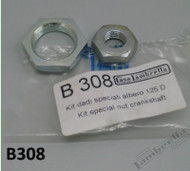Lambretta Bevel Gear Clutch/Crank Nut Kit Casa LD125 (LD19-B308)