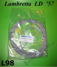 Lambretta Cable Set Complete Teflon Grey LD (1957) Casa (LDC-L98)
