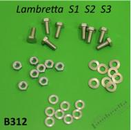 Lambretta Seat Saddle Hardware Kit S1/2/3 Casa (L0-39-B312x)