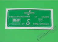 Lambretta Fuel Decal Green Door Flap Casa (L8L-C222)