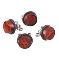 Universal License Plate Reflector Mount Set Red (DW-LP01)
