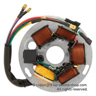 Vespa Ignition Stator Plate 7 Wire DC 80w SCEED42 - P Series (DW-85190100)