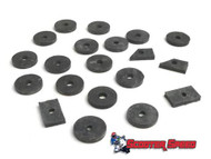 Lambretta Body Anti Vibration Rubber Kit Casa - Black (L3B-8013410)