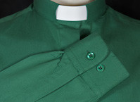 Mens Long Sleeved Polycotton  Collar Attached Clerical Shirts