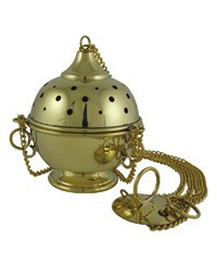 "Brass Thurible (4"" diameter) 3 chain"