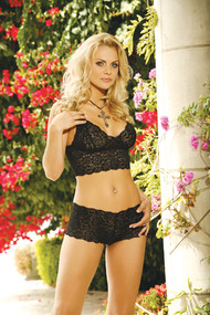 CAMI TOP WITH SHORTS BLACK