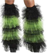 BOOT COVERS TULLE RUFFLE BK