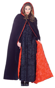 DELUXE HOODED VELVET CAPE
