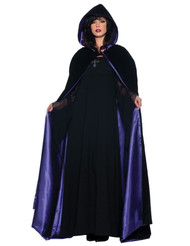 BLACK AND PURPLE DELUXE CAPE