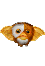 Front view of Gremlins Gizmo Mask