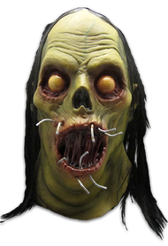 Direct from the pages of Sideshow Monkey: The Art of David Hartman comes one of David's most horrific creations, Nail Mouth. Described as a Zombie that ate his way out of a coffin, Nail Mouth is sure to horrify all that come in contact with him. Sculpted by our Art Director, Justin Mabry, Nail Mouth comes complete with nails, haunting yellow eyes and dead stringy black hair. This is a truly horrifying Halloween Mask, and needs to be worn to get the full effect. We guarantee that kids and adults alike will run as fast as they can when they see Nail Mouth approaching. So get yourself a black robe and an axe and go nuts this Halloween as Nail Mouth!
