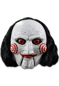 Trick or Treat Studios and Lionsgate are proud to present the Officially Licensed SAW Billy Puppet Halloween Mask! Sculpted by Russ Lukich and using countless screen shots, every detail of the amazing SAW Billy Puppet is represented in this incredible Halloween Mask. So get yourself our Officially licensed Billy Puppet mask and a suit and ask Trick or Treaters if they want to play a game on Halloween Night!  © 2014 Lions Gate Entertainment. All right reserved.