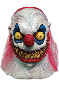 Slappy the Clown is another wickedly scary Clown in our Clowns of Death series, a line of Clown Masks designed to be the most unique and scary Clown Masks ever produced. We think that Slappy the Clown is the perfect embodiment of that description. Complete with his evil grin, a mouth full of horrible teeth, and stringy red hair, Slappy the Clown is everything that little boys and girls have nightmares about. In fact, Slappy was once a happy big top clown himself, until he came in contact with some form of nuclear waste that twisted his mind forever! So get yourself a torn up clown suit, a bicycle horn, and floppy shoes and scare your friends to death with Slappy the Clown!