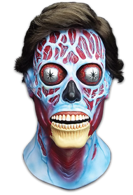 Trick or Treat Studios They Live Alien Latex Halloween Mask with Black Hair RLUS100