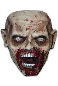 Straight from the screen of AMC's The Walking Dead comes The Biter Walker Face Mask. The Biter Walker is a highly detailed face mask that includes ears and the trademark Walking Dead eyes shared by all Walkers in AMC's number one hit show, The Walking Dead. Sculpted by Erich Lubatti and using hundreds of screen references, the Biter Walker Face Mask looks like it came right off the screen of The Walking Dead. So get yourself the Officially Licensed The Walking Dead Biter Walker Face Mask, our Walker Chest and some torn up clothes and go out and stalk the living this Halloween!