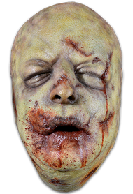 Straight from the screen of AMC's The Walking Dead comes The Bloated Walker Face Mask. The Bloated Walker is a highly detailed face mask that includes swollen eye, cheeks, blood soaked mouth and the trademark Walking Dead nose shared by all Walkers in AMC's number one hit show, The Walking Dead. Sculpted by Neal Kennemore, the artist that sculpted a number of The Walking Dead Walkers for Universal Studios Halloween Horror Nights - The Walking Dead Maze, and based off of hundreds of onscreen references, the Bloated Walker Face Mask looks like it came right off the screen of The Walking Dead. So get yourself the Officially Licensed The Walking Dead Bloated Walker Face Mask, our Walker Chest and some torn up clothes and go out and stalk the living this Halloween!