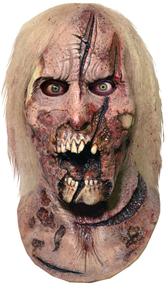 Portrayed by The Walking Dead director Greg Nicotero,sculpted by Neal Kennemore, the artist that sculpted a number of The Walking Dead Walkers for Universal Studios Halloween Horror Nights - The Walking Dead Maze, and using hundreds of screen references, the Deer Walker Halloween Mask looks like it came right off the screen of The Walking Dead. So get yourself the Officially Licensed The Walking Dead Deer Walker Mask, our Walker Chest, and some torn up clothes and go out and stalk the living this Halloween!