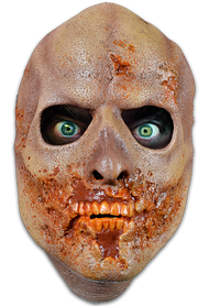 Straight from the screen of AMC's The Walking Dead comes The Teeth Walker Face Mask. Sculpted by Neal Kennemore, the artist that sculpted a number of The Walking Dead Walkers for Universal Studios Halloween Horror Nights - The Walking Dead Maze, and using hundreds of screen references, the Prison Walker Face Mask looks like it came right off the screen of The Walking Dead. So get yourself the Officially Licensed The Walking Dead Teeth Walker Face Mask, our Walker Chest, and some torn up clothes and go out and stalk the living this Halloween!