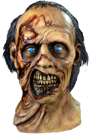 Season Six of the Walking Dead gave us the most memorable Walkers of the series, mainly the W or Wolf Walkers which became the face of the season. Sculpted by our Art Director, Justin Mabry, from front to back, every detail of these amazing Walkers is represented in this mask.  Now you can be a W Walker this Halloween.  © 2013 AMC Film Holdings LLC. All rights reserved.