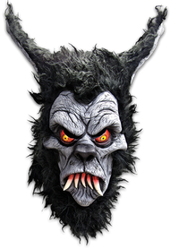 "We at trick or Treat Studios have been wanting to do a Werewolf Halloween Mask since the start of the company, but we wanted to do something very unique to Trick or Treat Studios style. So we asked Eric Pigors to come up with something that the amazingly talented Pete Infelise could sculpt to fill the void, and Pete delivered the most amazing Werewolf Halloween Mask ever created, the Toxictoons Werewolf. What is a Toxictoon you ask? To quote Eric, ""It's a cartoon character described as a nutty, scabbed, chicken-poxed, lily-livered, stitched-up, bone-poppin' goofball with some sort of diabolical, disturbing dilemma in store! The Toxictoons Werewolf Halloween Mask is a 3/4 mask with a back strap covered in wolf hair, making it comfortable to wear all night long. So wait for the next full moon, grab your Werewolf Toxictoons mask, and give the town a big howl."