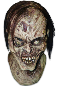 Check out this amazing zombie mask! With dead hair, open boils and green ooze from his mouth, Zombinski is the King of Zombie Masks. The man for the best selling Original Zombie Masks in the Trick or Treat Studios line, Water Zombie and Chiller, now brings us the amazing Zombinski.