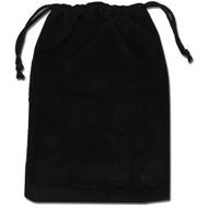 Black velvet drawstring pouch.