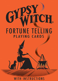 Gypsy Witch Fortune Telling Playing Cards deck provides an easy-to-learn method of divination.