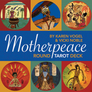 """Motherpeace's round cards and primitive artwork allow the reader to rely on intuition rather than standard """"black and white"""" meanings."""