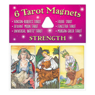 Collect all six different Tarot Magnet sets: The Lovers, The Fool, Wheel of Fortune, Strength, The Magician, and The Moon.