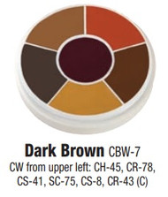 Dark Brown Contour Creme Wheel